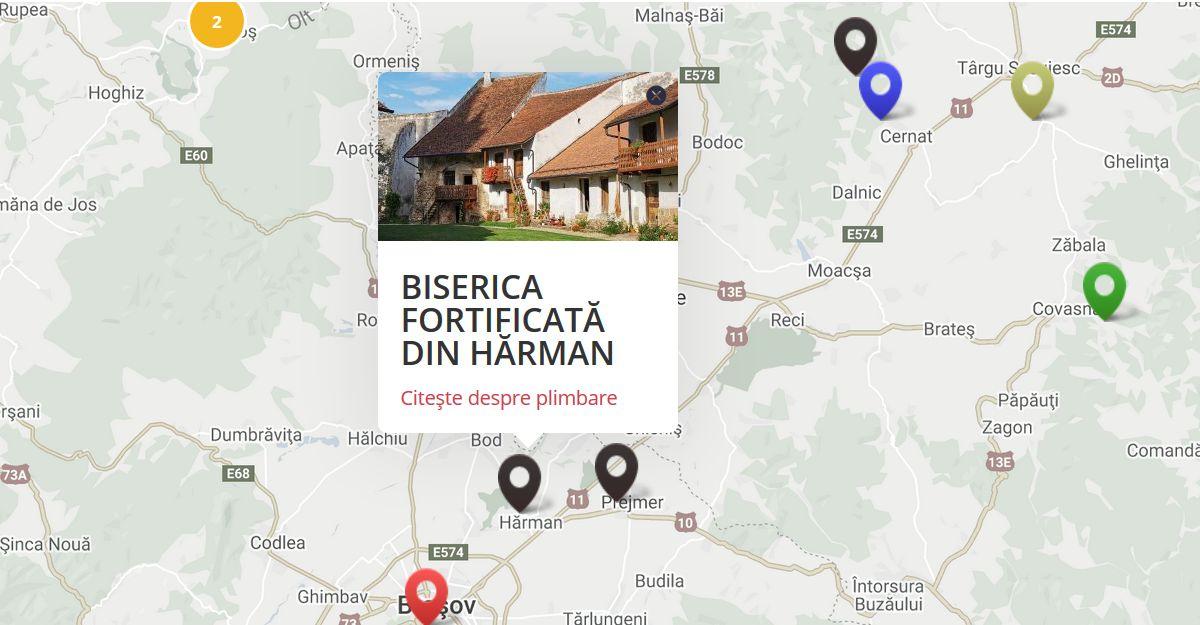 Harta obiective plimbari.ro