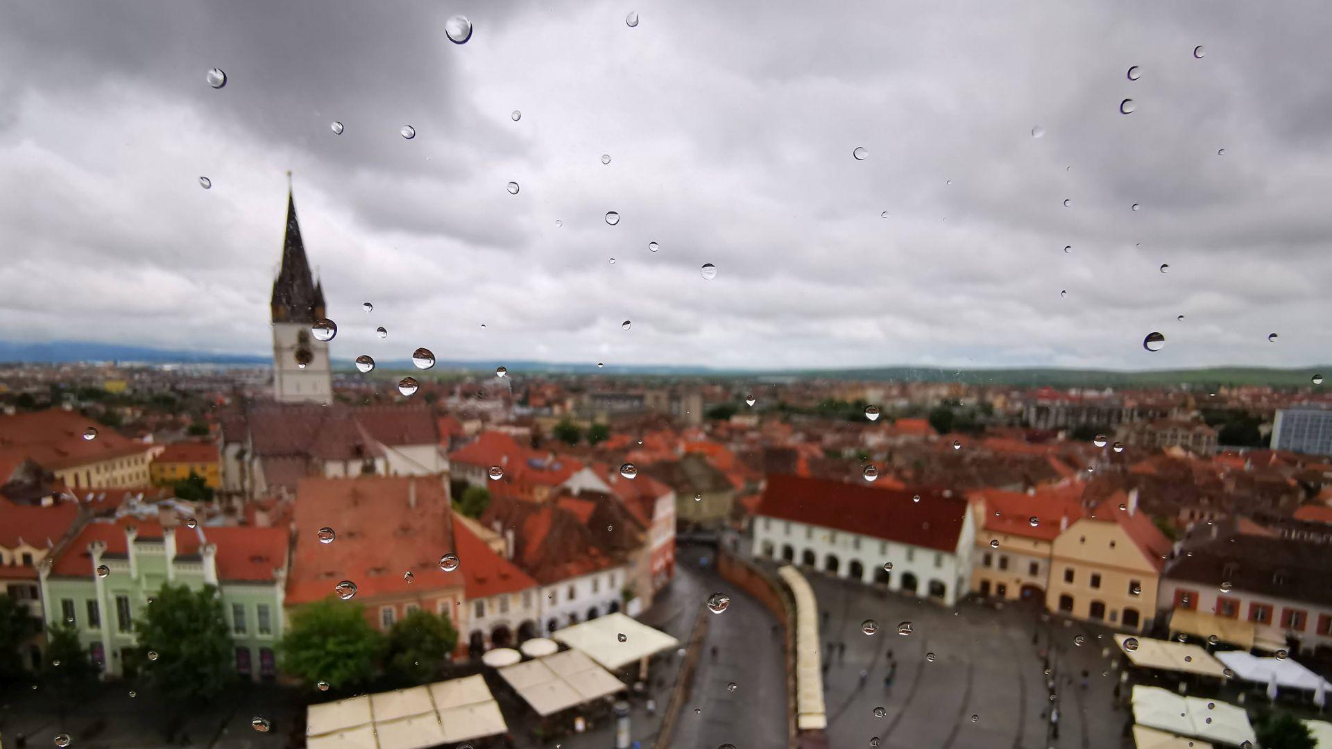 Vedere din Turnul Sfatului, Sibiu